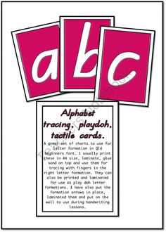 Alphabet Handwriting charts QLD print product from Just-Teach on TeachersNotebook.com