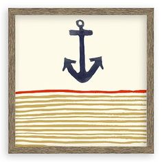 Framed Print - Anchor Stripe #westelm