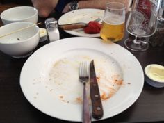My empty plate after demolishing the slow cooked beef sandwich @cattlegrid - gutted!