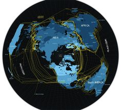 mapping fiber optic cables and geographic information systems that connect people all over the world - Internet -