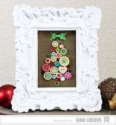 Button Tree Frame by Gina Lideros - Studio