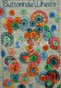 I ❤ embroidery . . . TAST Buttonhole Wheels ~By Maya Matthew