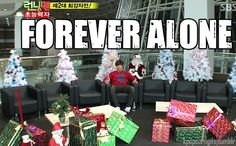 Running Man Jong Kook, the first time alone in jail- on Christmas!
