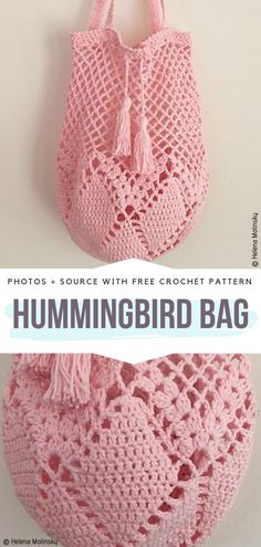 Hummingbird Market Bag Crochet Free Pattern- Market Grocery PatternsHummingbird Market Tote Bag Free Crochet PatternMeet Me at the Market Crochet Grocery BagSewing Pattern To Make A Reusable Grocery Bag - This… Bag Crochet, Mode Crochet, Crochet Market Bag, Crochet Purses, Crochet Crafts, Crochet Stitches, Crochet Hooks, Crochet Diaper Bag, Crochet Drawstring Bag