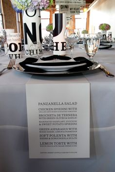 Typography Inspired Wedding