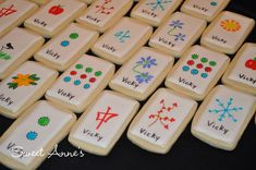 Mahjong Cookie Tiles