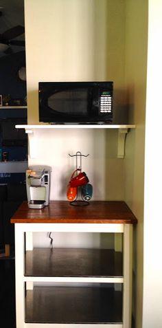 {create} Microwave Shelf with Corbels - Create Bake Celebrate