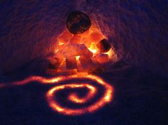 "One of many Himalayan Salt Crystal Features in our Salt Therapy Room ""Saltasia"" Himalayan Rock Salt Lamp, Himalayan Salt Crystals, Hippie Chic Outfits, Salt Cave, Pink Sea Salt, Salt Rock Lamp, Yoga For Balance, Salt Of The Earth"
