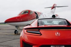 Honda's Crown Jewels: A look at the HondaJet and the Acura NSX.