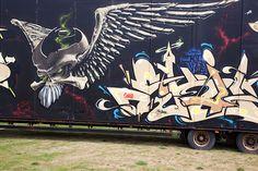 Graffiti Bromölla (S) August 2012 urban Zweden Sweden art kunst streetart Photo by: Jascha Hoste