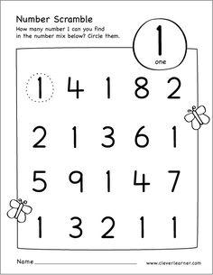 School worksheets free printable scramble number activity age 3 sparks kindergarten old Preschool Number Worksheets, Pre K Worksheets, Numbers Preschool, Free Preschool, Preschool Learning, Kindergarten Worksheets, Preschool Activities, Coloring Worksheets, Shapes Worksheets