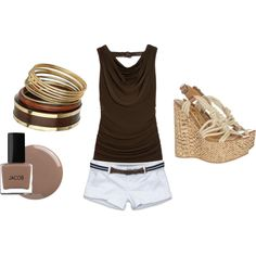 Brown&White for Summer created by khadijah-fennell.polyvore.com