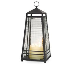 Zinc Weathered Lantern from PartyLite. Looks great in an outside or inside garden with candle inside.