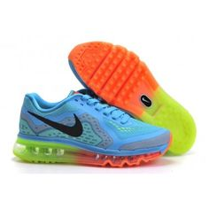 best service a36fc 6a84a beautiful 2014 Nike Air Max Running Shoes on Sale Blue Green Orange Nike  Air Max Running