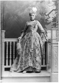 "Miss Terroux as the ""Baronne de Beaumouchel,"" costumed for Chateau de Ramezay Ball, Montreal, QC, 1898, II-123132 © McCord Museum"