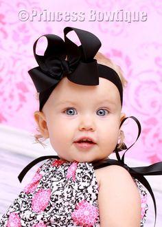 Black on Black Baby Toddler Headband