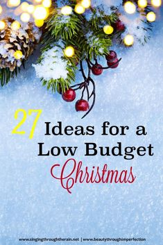 27 Ideas for a Low Budget Christmas - A great list of ideas for a happy Christmas for families on a small budget! The Best Of Christmas, Best Christmas Recipes, Christmas On A Budget, Christmas Gift Guide, All Things Christmas, Christmas Holidays, Christmas Crafts, Christmas Bulbs, Christmas Decorations