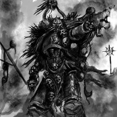 warhammer-fan-art: Chaos Marines by cervayrus theryuog and skor2d