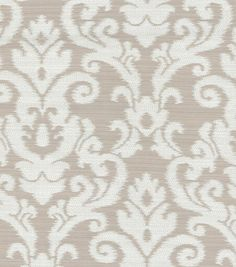 Create lovely projects with this elegant Home Décor Fabric. A traditional damask home décor fabric with elegant color combination. Content: 34% Polyester, 34 Coton, 32% Rayon Width: 57 Inches Fabric T