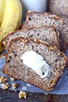 Banana Bread Starbucks Copycat Recipe - Butter Your Biscuit Banana Walnut Bread, Best Banana Bread, Banana Nut, Banana Bread Recipes, Cake Recipes, Dessert Recipes, Desserts, Sweet Recipes, Povitica Recipe