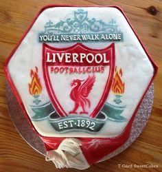 Liverpool Logo Cake, Airbrushed with Trucolor Natural Airbrush and Paint colors.