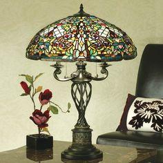 Lampada da Tavolo Tiffany Mosaico Colorata