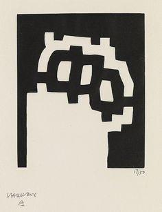 cablestotheace: EDUARDO CHILLIDA Carpenter Center Series, Plate II. Woodcut, 1977. 17/50. Printed by Féquet and Baudier, Paris. Published by Harvard's Carpenter Center, Cambridge