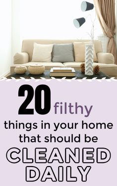 20 things in your home that you should be cleaning every day but probably aren't. ever wonder why you spend all day cleaning but your house never looks clean? These 20 germ-infested things in your home need to be cleaned every day! Cleaning Schedule Printable, House Cleaning Checklist, Household Cleaning Tips, Cleaning Recipes, Cleaning Hacks, Cleaning Supplies, Clean House Schedule, Messy House, Mattress Cleaning