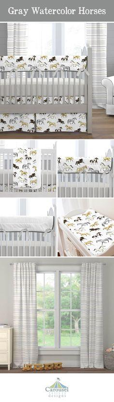 Mint and Taupe Rabbits Crib Bedding collection by Carousel Designs. White Nursery, Nursery Neutral, Nursery Wall Art, Nursery Decor, Nursery Twins, Elephant Nursery, Animal Nursery, Baby Shower Gifts, Baby Gifts