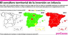 El semáforo territorial de la inversión en infancia.