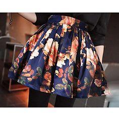 Women's Vintage High Waist Pattern Skirt