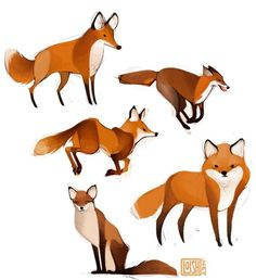 fox doodles: