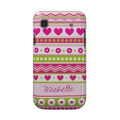 Pink Green Valentine's fabric Samsung Galaxy Case