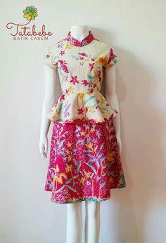 Hffc Blazer Batik, Blouse Batik, Batik Dress, Batik Kebaya, Kebaya Dress, Blouse Dress, Ethnic Outfits, Ethnic Dress, Vestido Batik