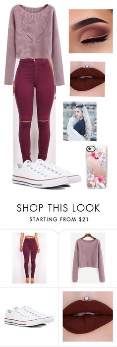 """Untitled #26"" by lemonitadr on Polyvore featuring Converse and Casetify"