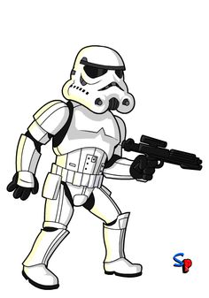 how to draw a cartoon storm trooper