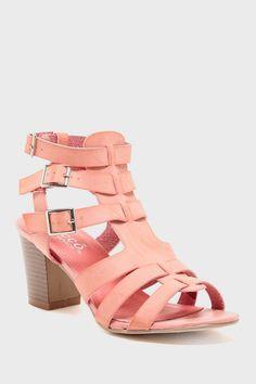 pink heeled sandals Hautelook