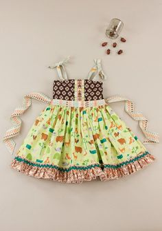 Matilda Jane Platinum - forest friends gathered silly ellie dress