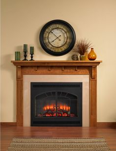 Wonderful and easy electric fireplace for instant flames and controllable heat.