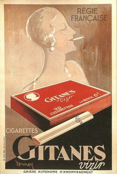 """ein-bleistift-und-radiergummi: """" 'Gitanes Vizier' 1929. """""""
