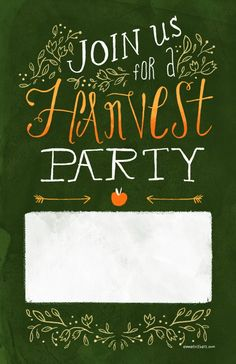 Harvest Party Invite Template