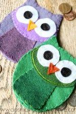 Cute and Easy Felt Owl Coin Purse
