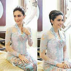 Kebaya Lace, Kebaya Hijab, Kebaya Brokat, Batik Kebaya, Kebaya Dress, Kebaya Muslim, Blouse Batik, Batik Dress, Wedding Dress Bolero