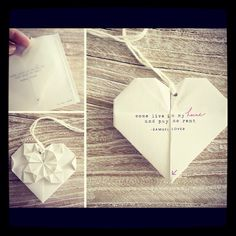 Origami Wedding invitation
