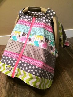 Carseat Canopy STUNNING OOAK patchwork by SooShabbyChic on Etsy