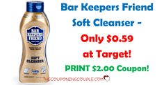 **PRINT NOW** High value $2.00/1 Bar Keepers Friend Soft Cleanser coupon! Pay as little as $0.59 at Target or use at your favorite store!  Click the link below to get all of the details ► http://www.thecouponingcouple.com/bar-keeper-friend-soft-cleanser-only-0-59-target/ #Coupons #Couponing #CouponCommunity  Visit us at http://www.thecouponingcouple.com for more great posts!