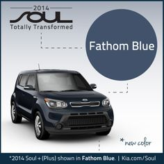 The new 2014 Kia Soul from our partner. New Color. Fathom Blue. Charge faster with our Kia preferred chargers http://store.evsolutions.com/kia-ev-chargers-c37.aspx