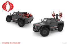 "Thanks to HISSTANK.com boards member Nogamusprime for posting up his incredible G.I. Joe and Cobra 3D vehicle designs. Only one is currently built in a custom format ""The PAC-RAT"", but the Art Designs alone are something to behold. Vehicles include: COBRA H.I.S.S. Tank Wolverine FANG G.I. Joe APC Supercat Check out all of  Nogamusprime's design work after the jump."