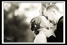 First kiss, black and white Amber and Colby's Wedding ~ Twin Hills Country Club, East Longmeadow MA