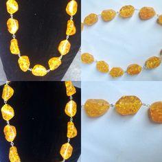 #collana #metallica con #ambra #sintetica. #fattaamano.  #sintetic #amber's #necklace. #handmade  #collar #metalico con #ambar #sintetica. #hechoamanos.  www.oro18.eu info@oro18.eu